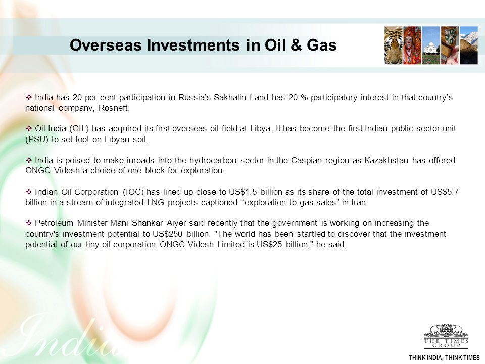 Overseas Investments in Oil & Gas