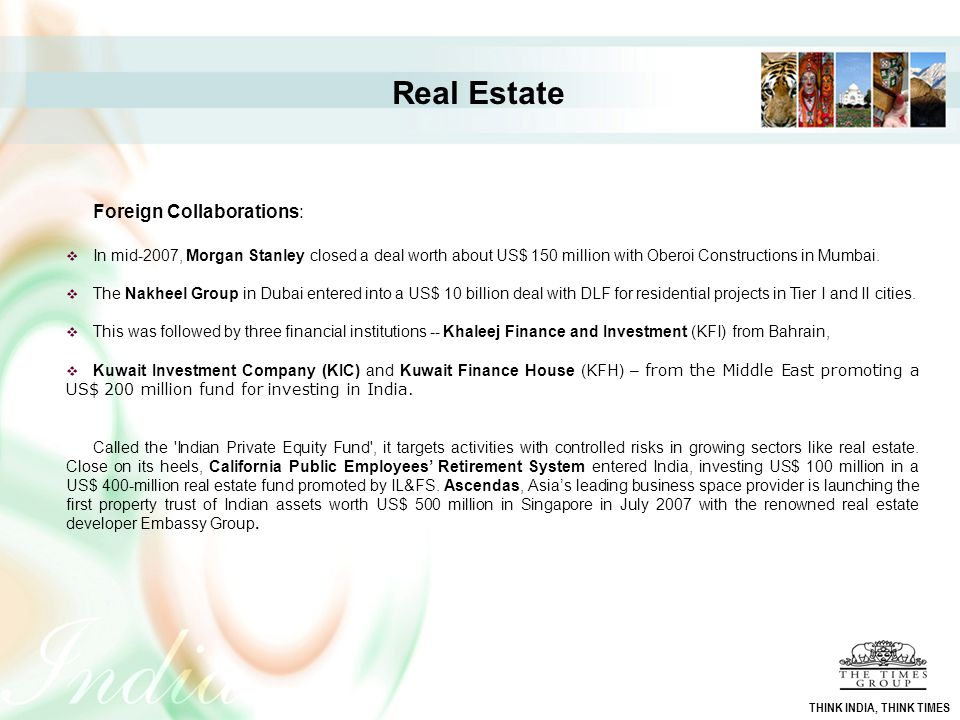 Real Estate Foreign Collaborations: