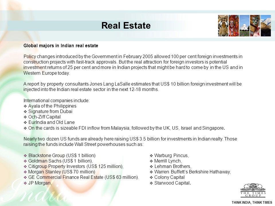 Real Estate Global majors in Indian real estate