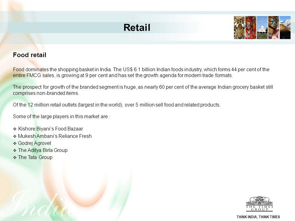 Retail Food retail.