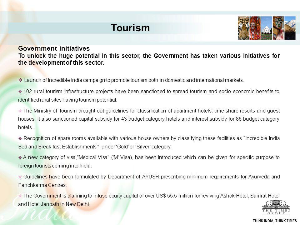 Tourism Government initiatives