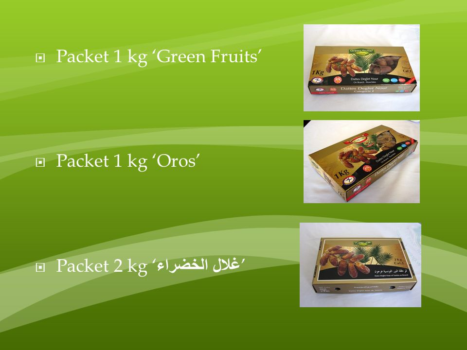 Packet 1 kg 'Green Fruits'