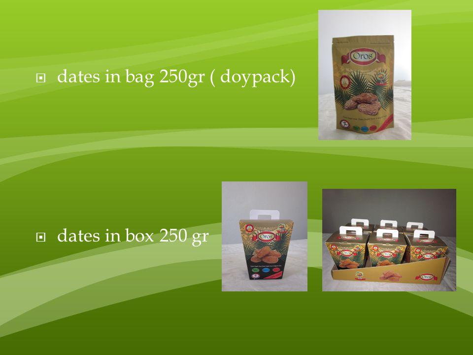 dates in bag 250gr ( doypack)