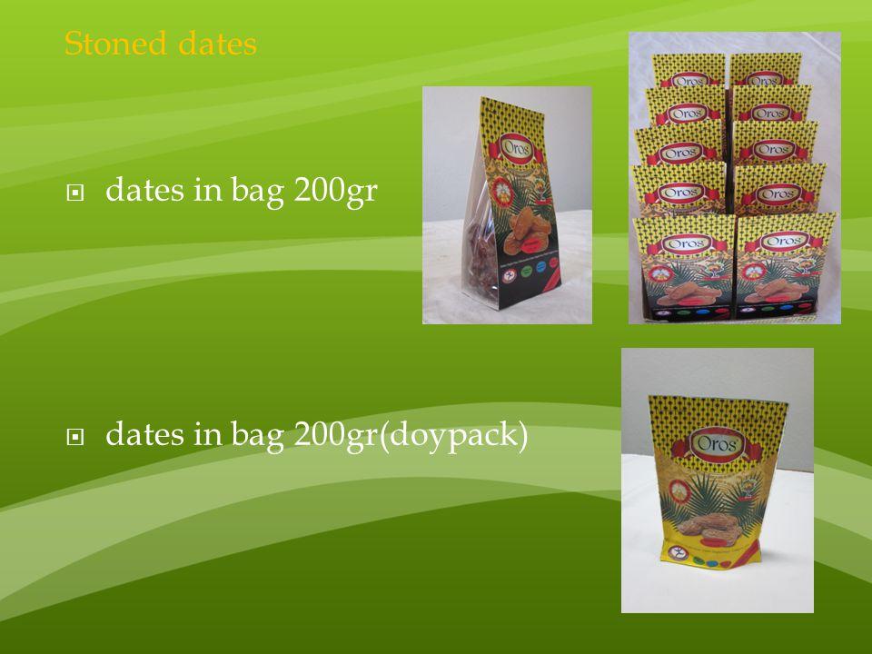 Stoned dates dates in bag 200gr dates in bag 200gr(doypack)