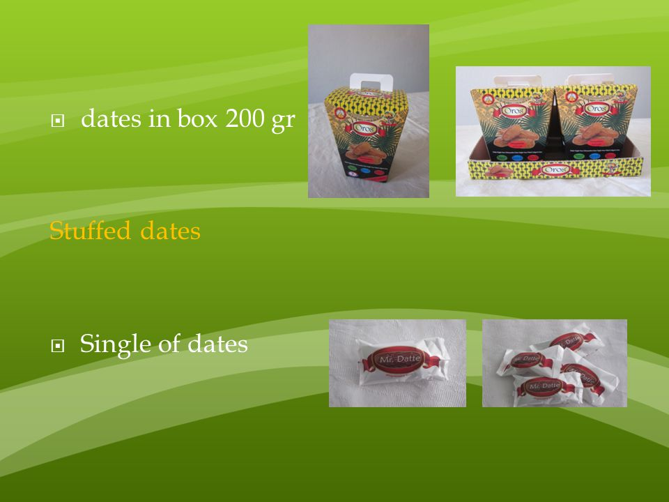 dates in box 200 gr Stuffed dates Single of dates