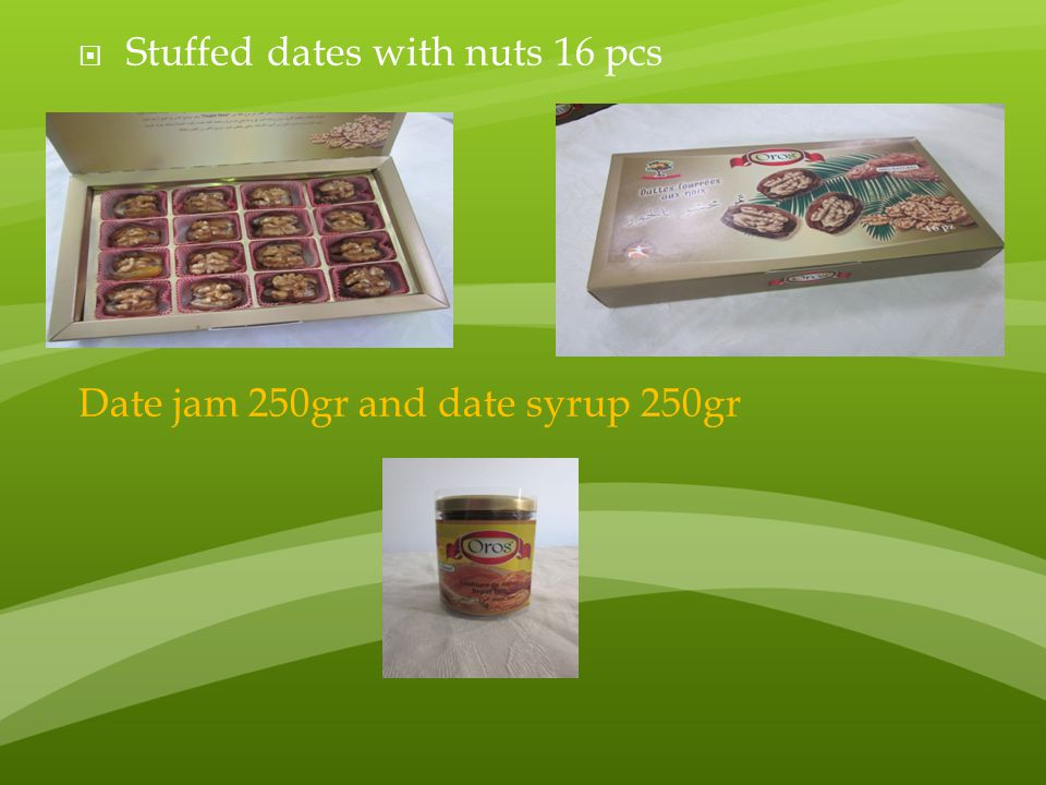 Stuffed dates with nuts 16 pcs