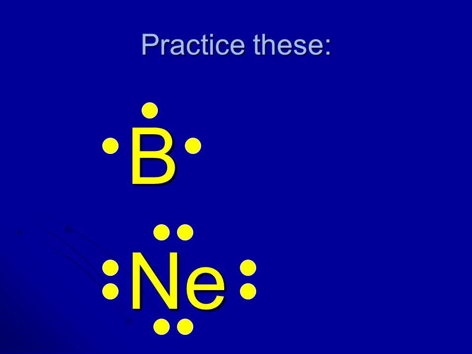 Practice these: B Ne