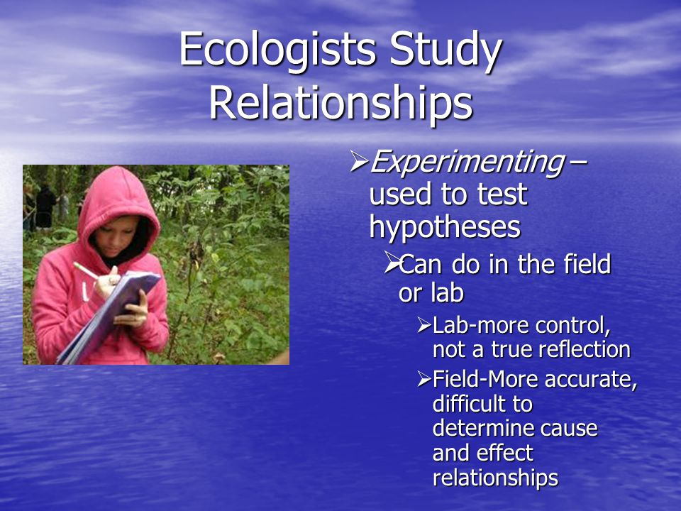 Ecologists Study Relationships