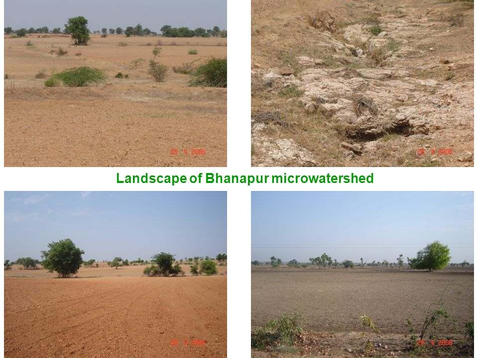 Landscape of Bhanapur microwatershed