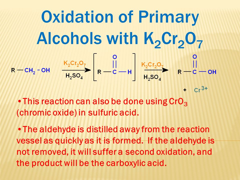 Oxidation of Primary Alcohols with K2Cr2O7