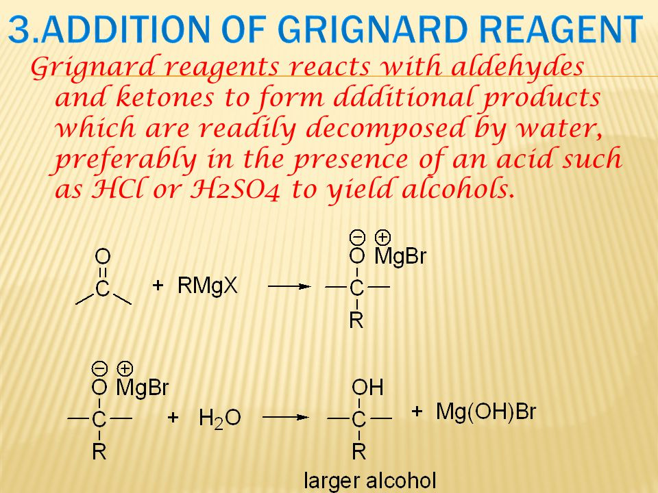 3.ADDITION OF GRIGNARD REAGENT