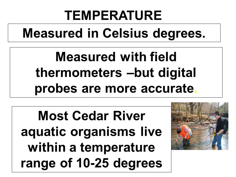 Measured in Celsius degrees.