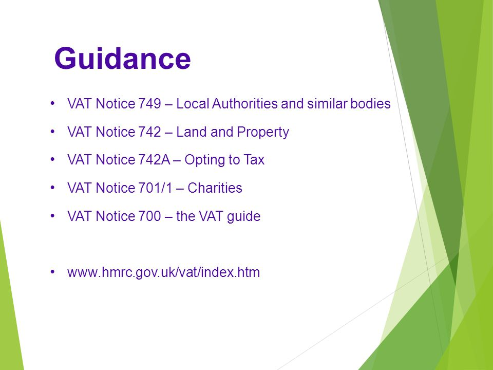 Guidance VAT Notice 749 – Local Authorities and similar bodies