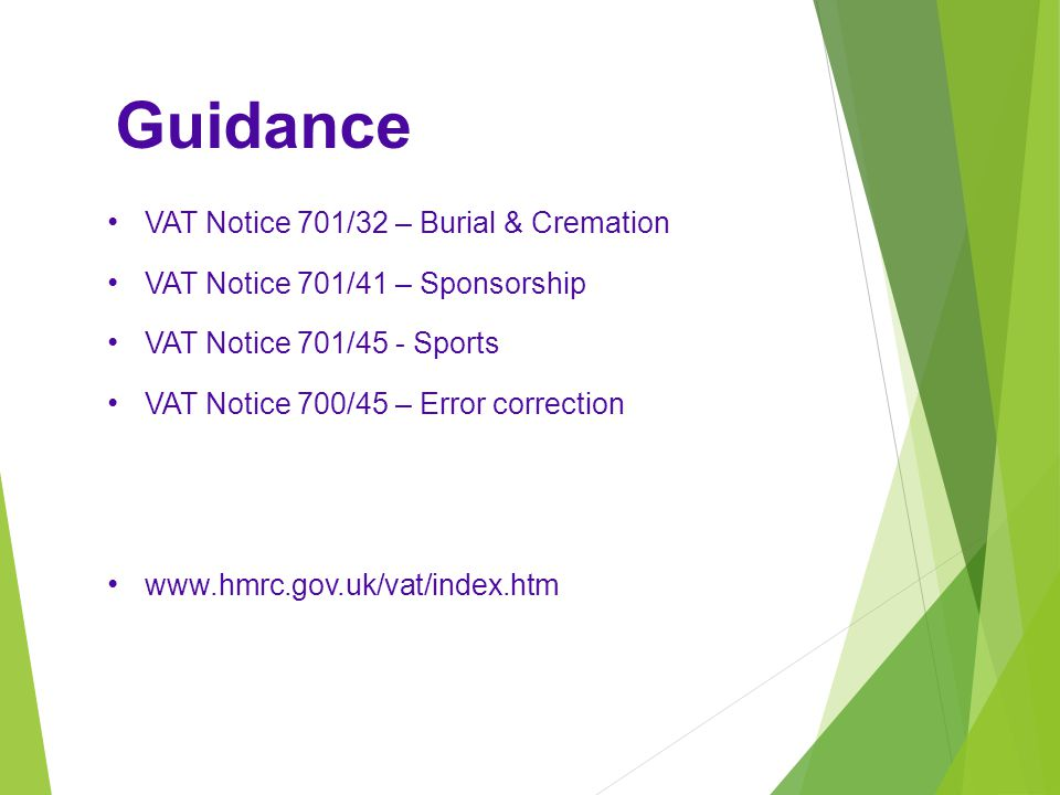 Guidance VAT Notice 701/32 – Burial & Cremation