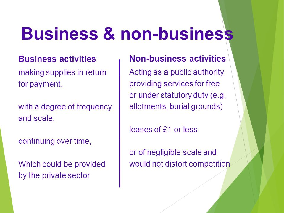 Business & non-business