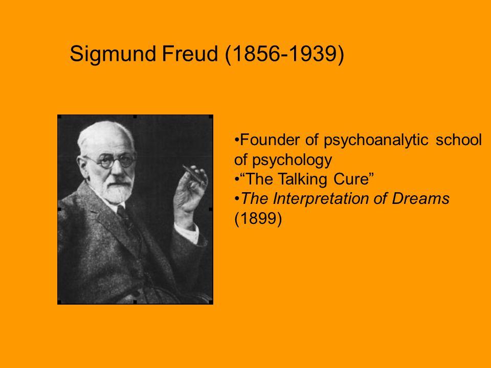 Sigmund Freud (1856-1939) Founder of psychoanalytic school of psychology.