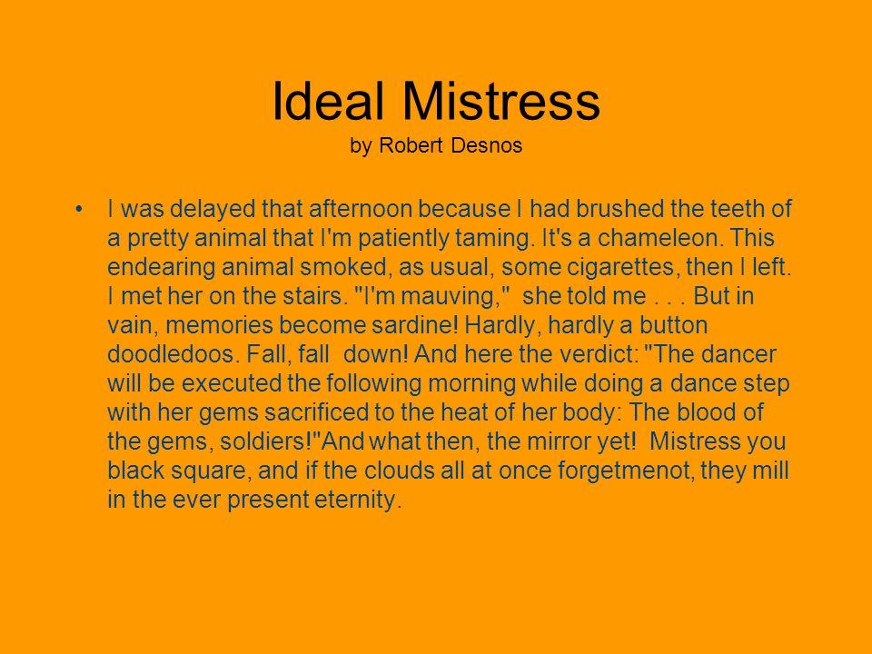 Ideal Mistress by Robert Desnos