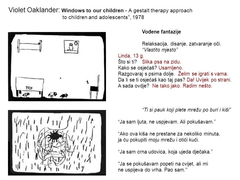 Violet Oaklander: Windows to our children - A gestalt therapy approach