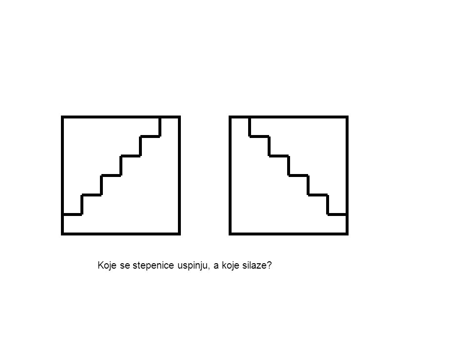 Koje se stepenice uspinju, a koje silaze