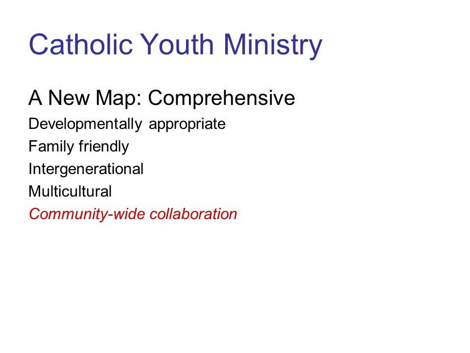 Catholic Youth Ministry