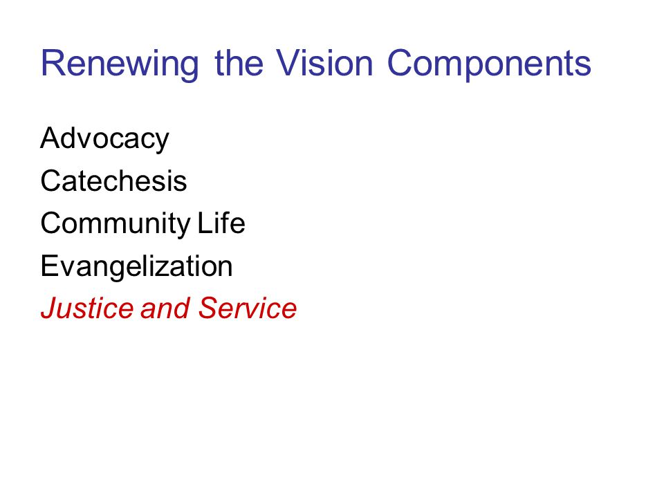 Renewing the Vision Components