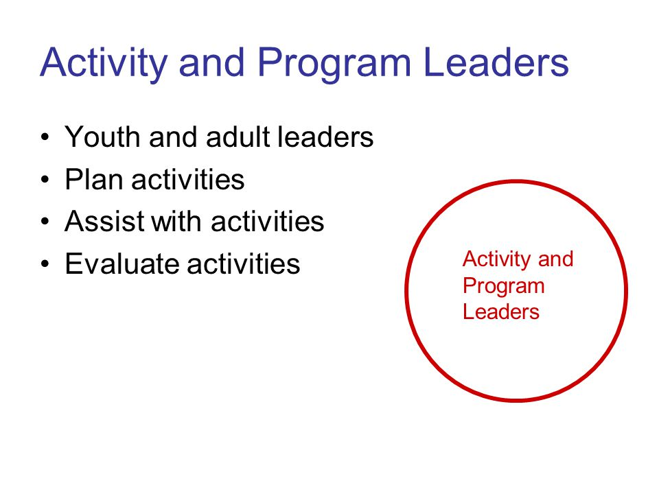 Activity and Program Leaders