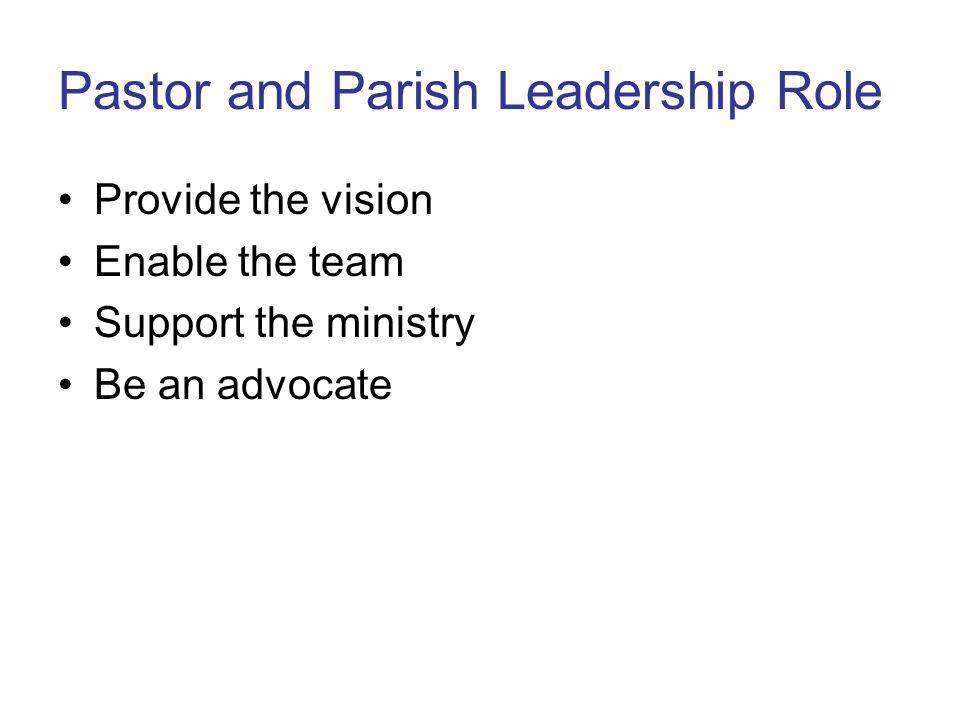 Pastor and Parish Leadership Role