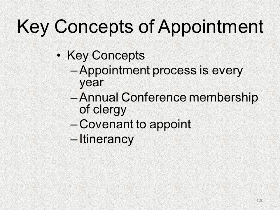 Key Concepts of Appointment