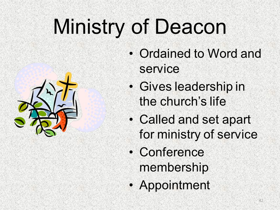 Ministry of Deacon Ordained to Word and service
