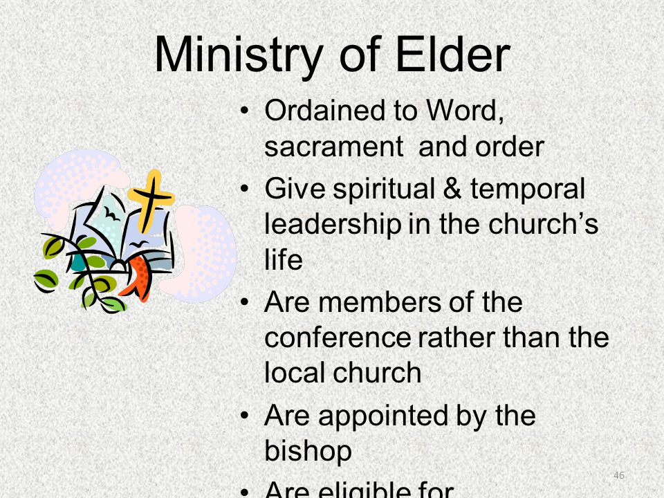 Ministry of Elder Ordained to Word, sacrament and order