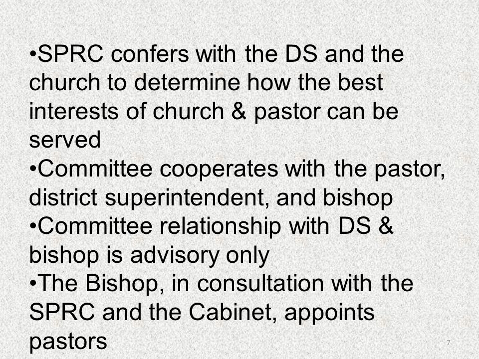 Committee relationship with DS & bishop is advisory only