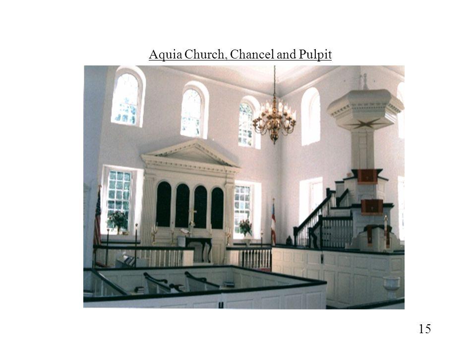 Aquia Church, Chancel and Pulpit