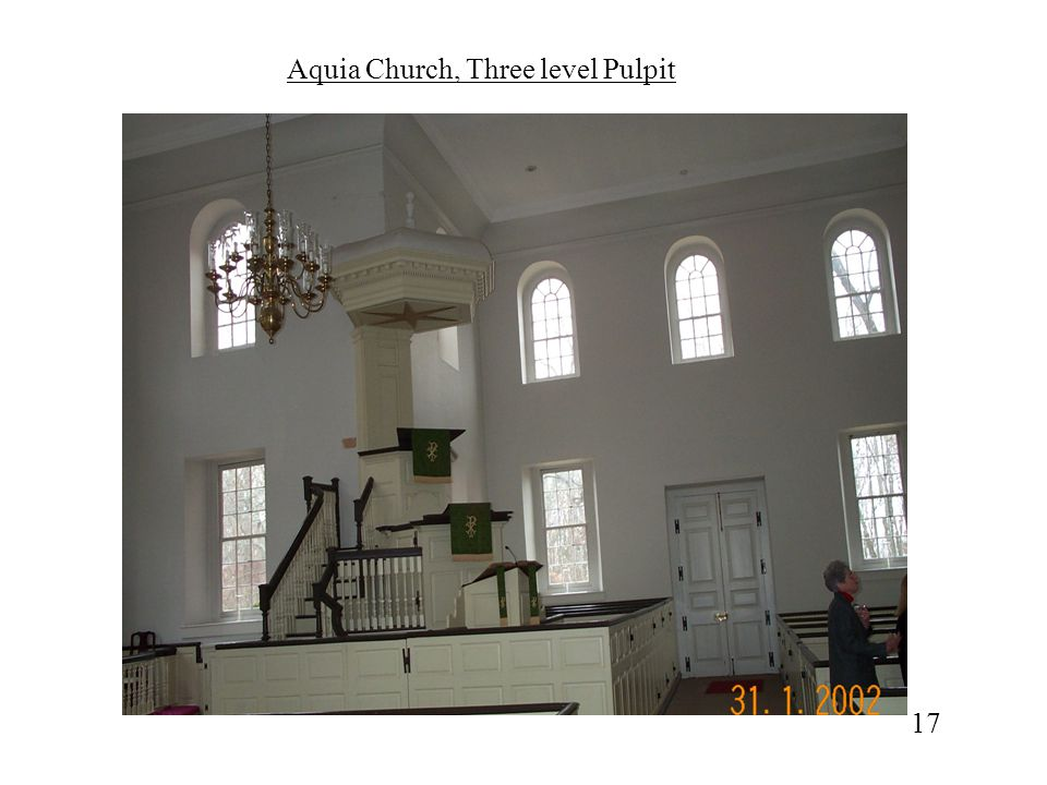 Aquia Church, Three level Pulpit