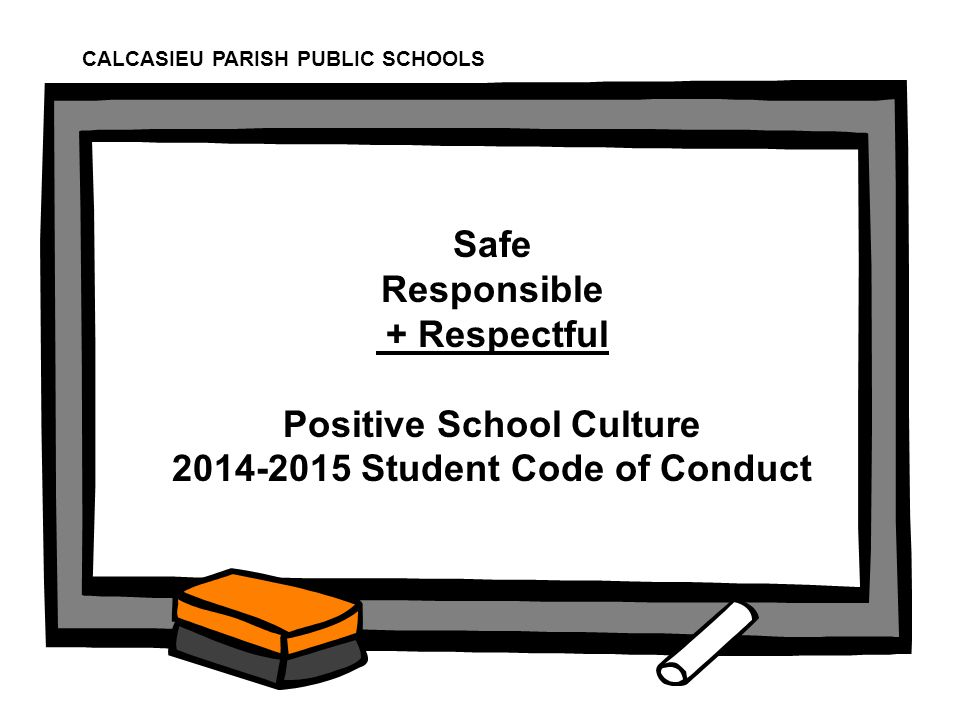 Positive School Culture 2014-2015 Student Code of Conduct