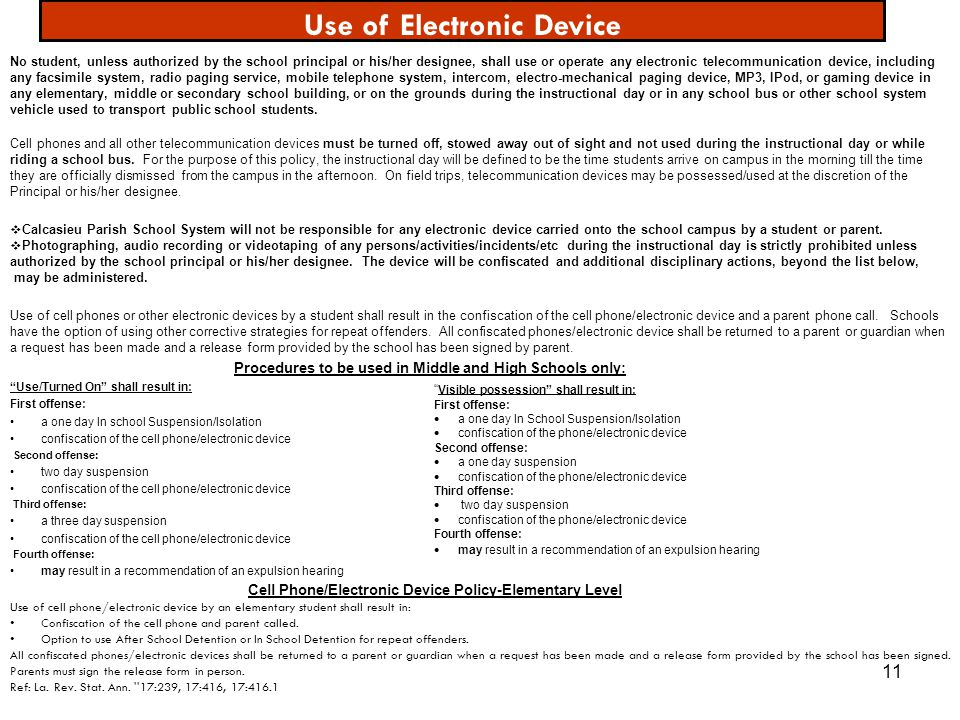 Use of Electronic Device