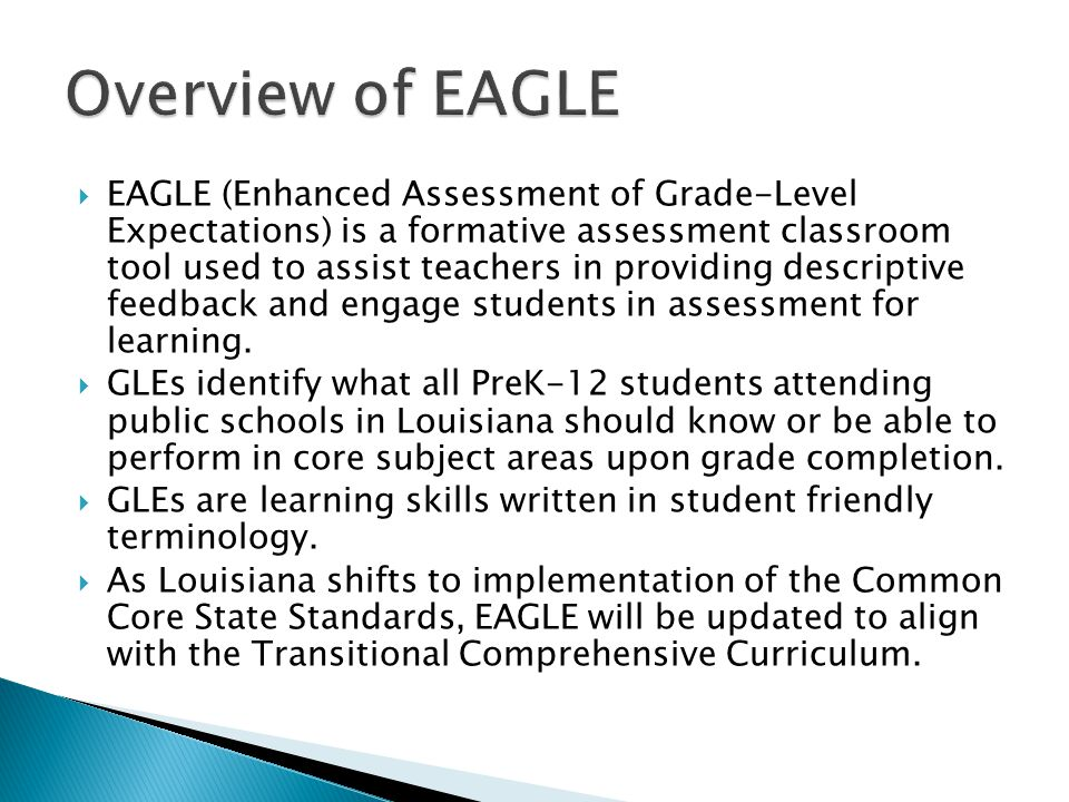 Overview of EAGLE