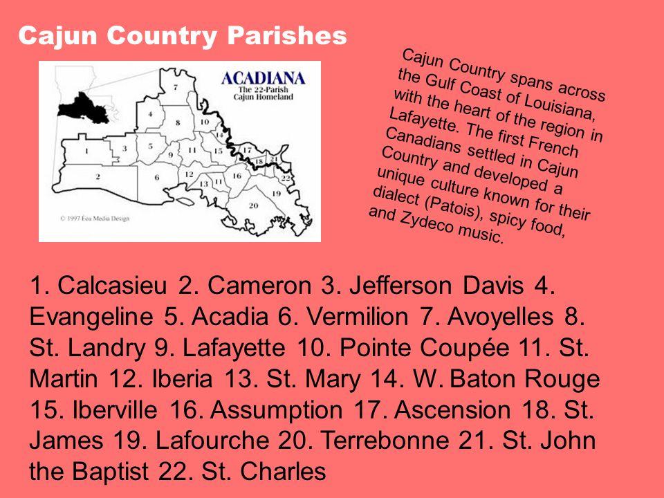 Cajun Country Parishes