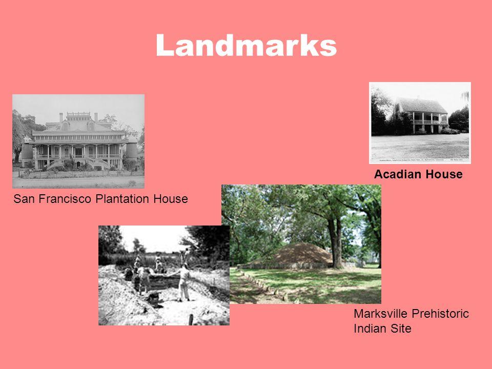 Landmarks Acadian House San Francisco Plantation House