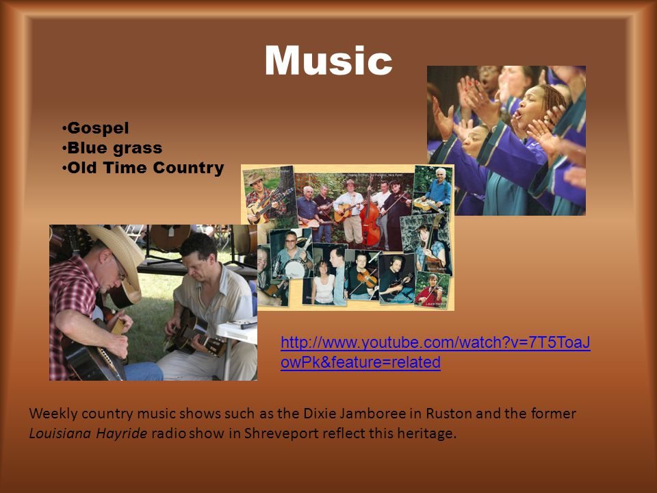 Music Gospel Blue grass Old Time Country