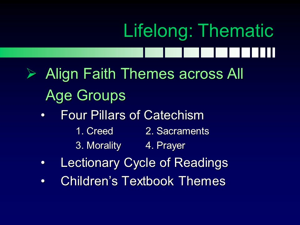 Lifelong: Thematic Align Faith Themes across All Age Groups