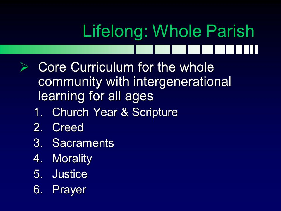 Lifelong: Whole Parish