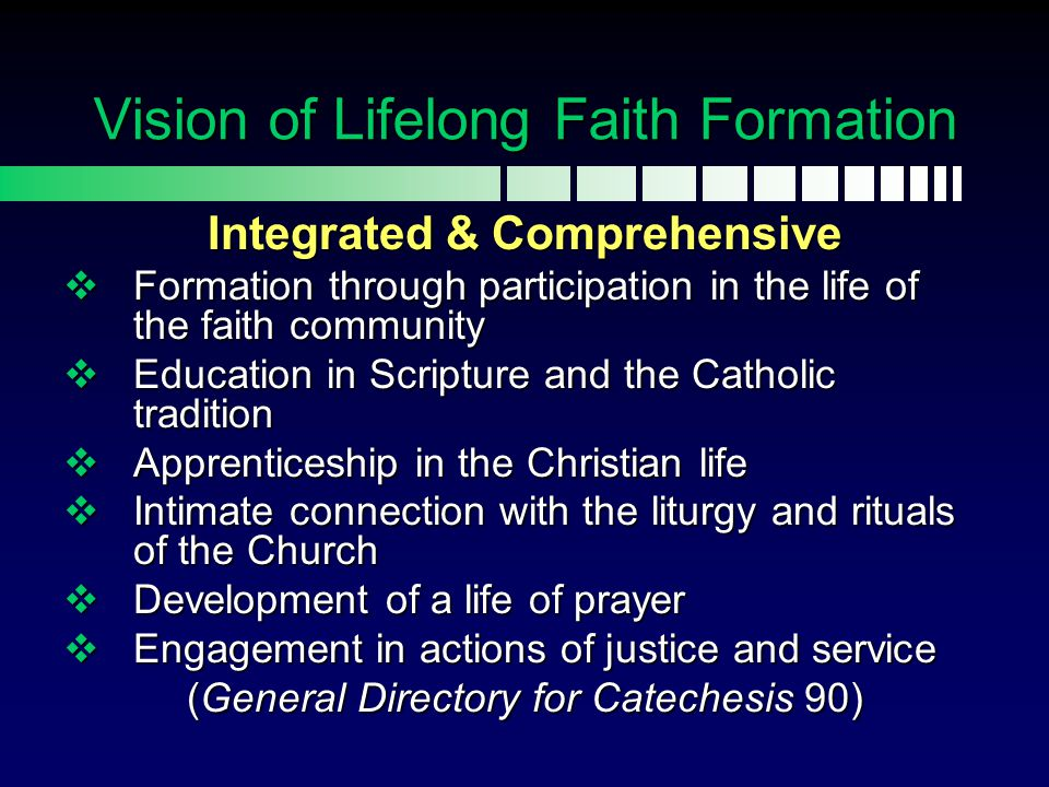 Vision of Lifelong Faith Formation