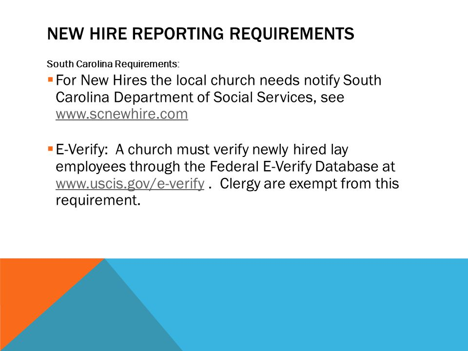 New Hire Reporting Requirements