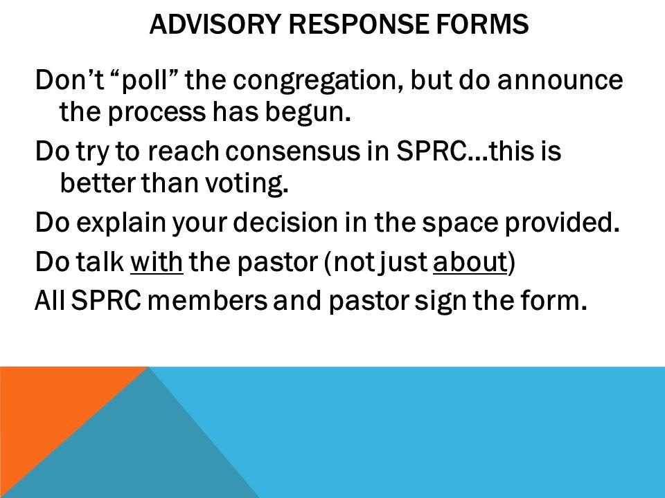Advisory Response Forms