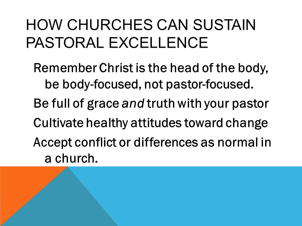 How CHURCHES Can Sustain Pastoral Excellence