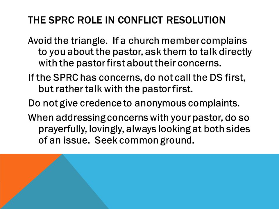 The SPRC ROLE in CONFLICT Resolution