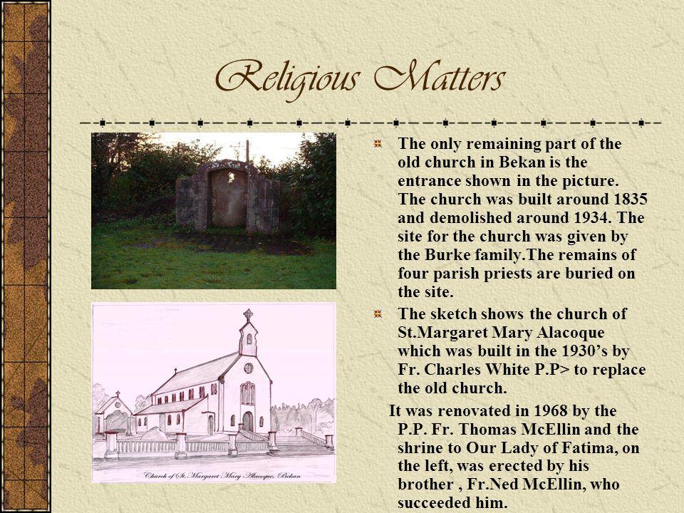 Religious Matters