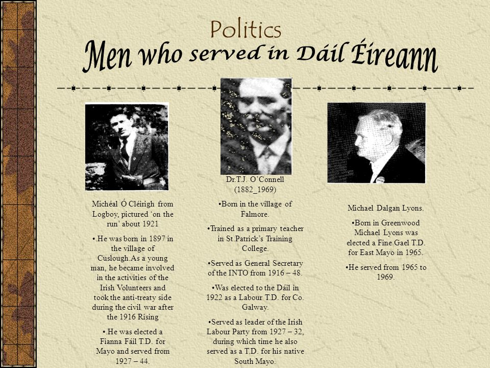 Men who served in Dáil Éireann