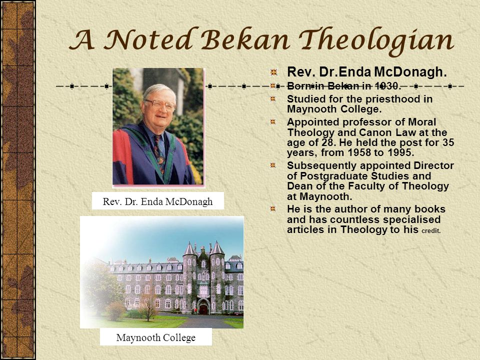 A Noted Bekan Theologian