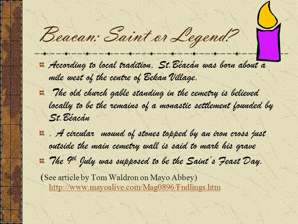 Beacan: Saint or Legend